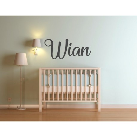 Wooden name sign cutout for nursery or kids room
