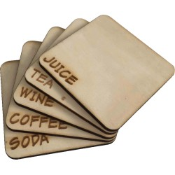 Set of 5 Wooden Coasters