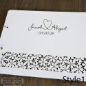 Guest book covers - Flower cutout