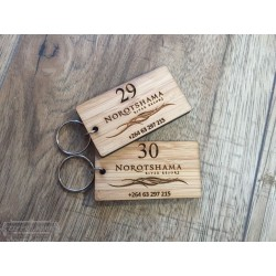 Rectangular Bamboo keyrings