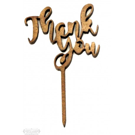 small Thank you Cupcake topper