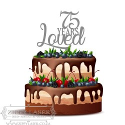 CT016 Cake topper - Years Loved