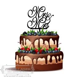 CT017 Cake topper - Mrs & Mrs