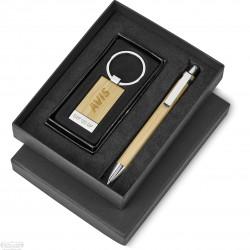 Bamboo - Keyring and Pen combo - Rectagular